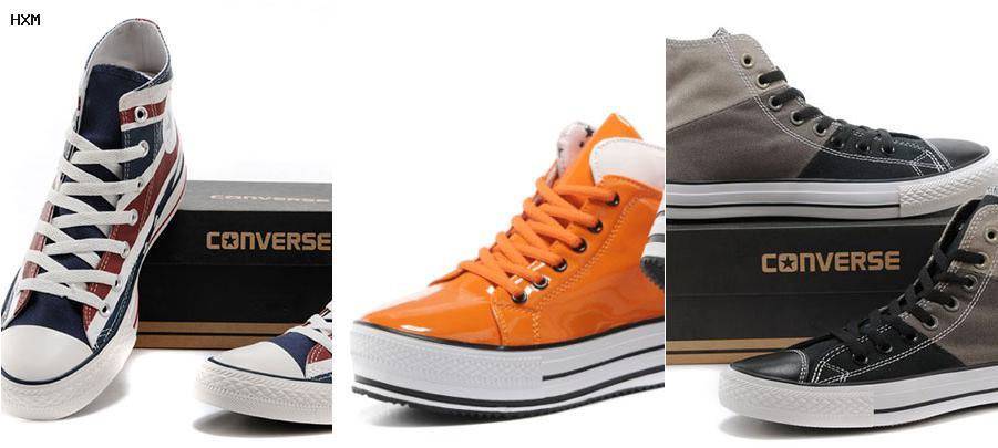 tallaje zapatillas converse