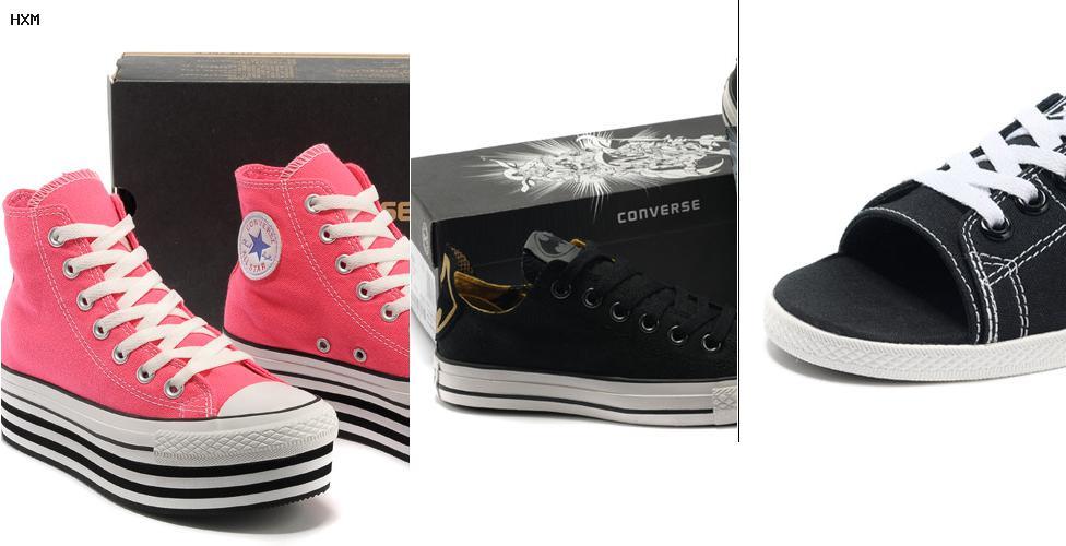 zapatillas converse blancas piel