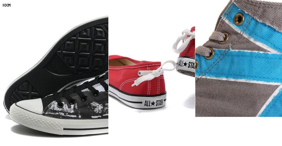zapatillas converse piel mujer