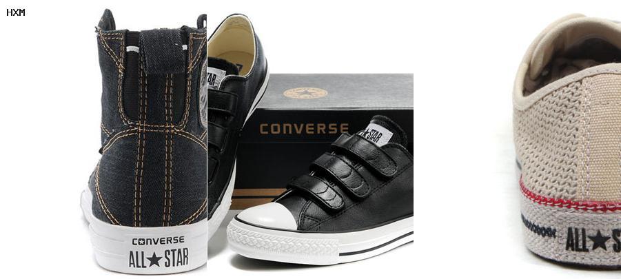 zapatos tipo converse tacon